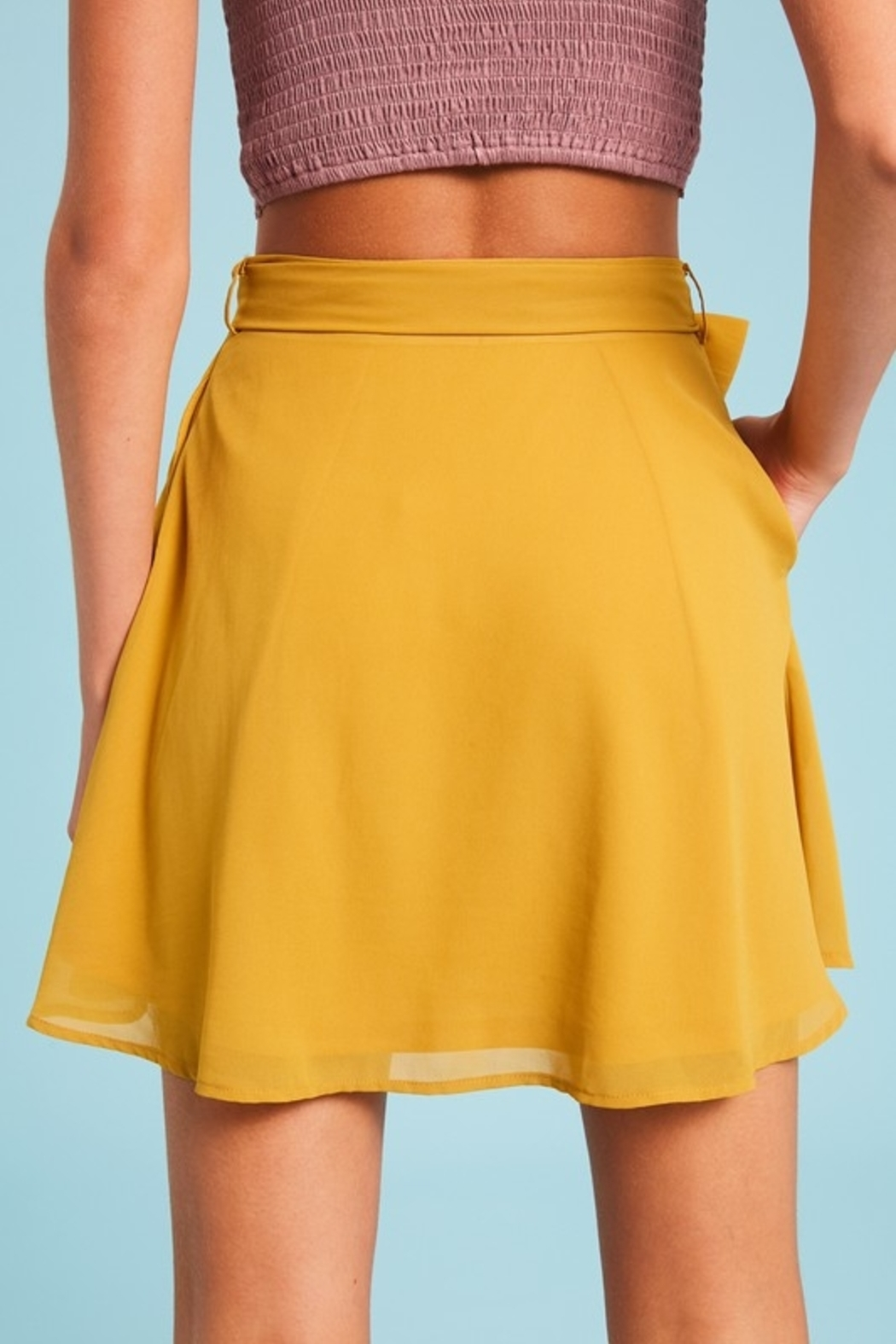 Listicle Flirting with Fun skirt - Front Full Image