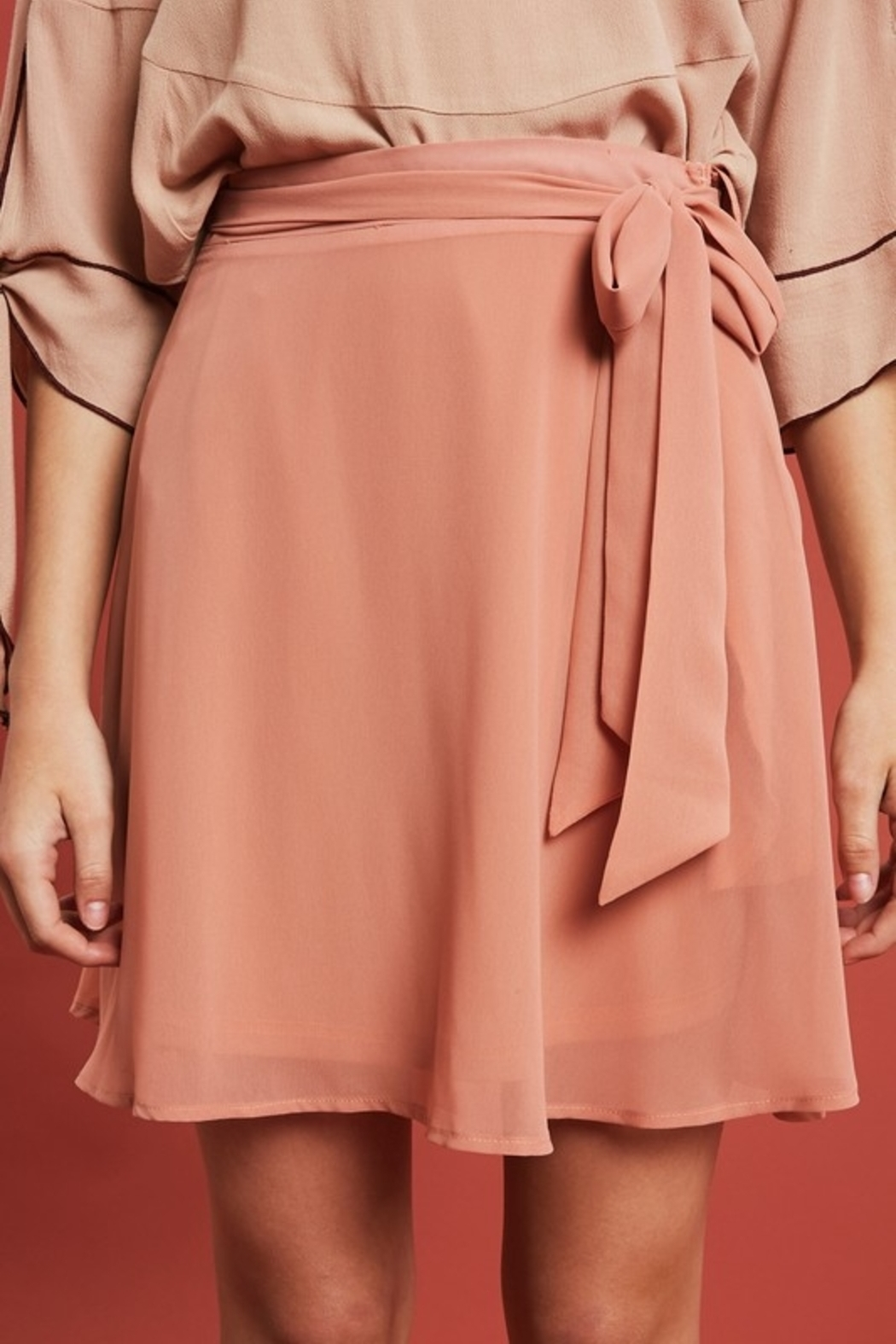 Listicle Flirting with Fun skirt - Front Cropped Image