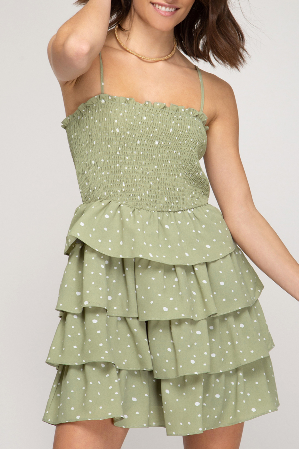 She and Sky Flirty & Fashionable dress - Front Cropped Image