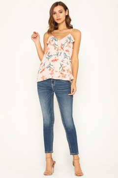 Miss Me Flirty Floral Cami-Top - Alternate List Image