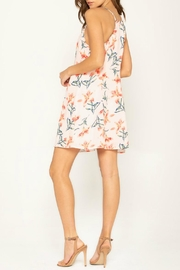Miss Me Flirty Floral Shift-Dress - Front full body