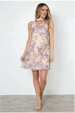 Simply Noelle Flirty-Floral Tie-Neck Dress - Product List Image