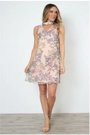 Simply Noelle Flirty-Floral Tie-Neck Dress - Product Mini Image