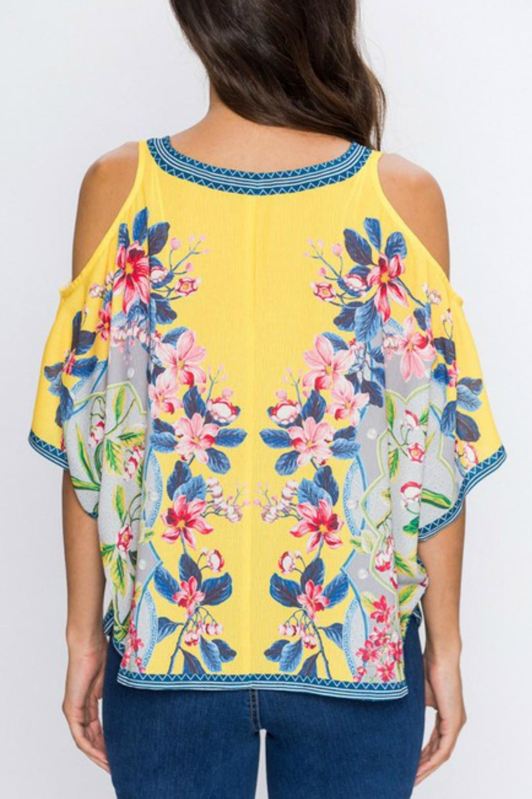 Imagine That Flirty Floral Top - Front Full Image