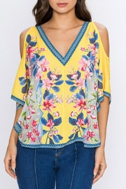 Imagine That Flirty Floral Top - Front cropped