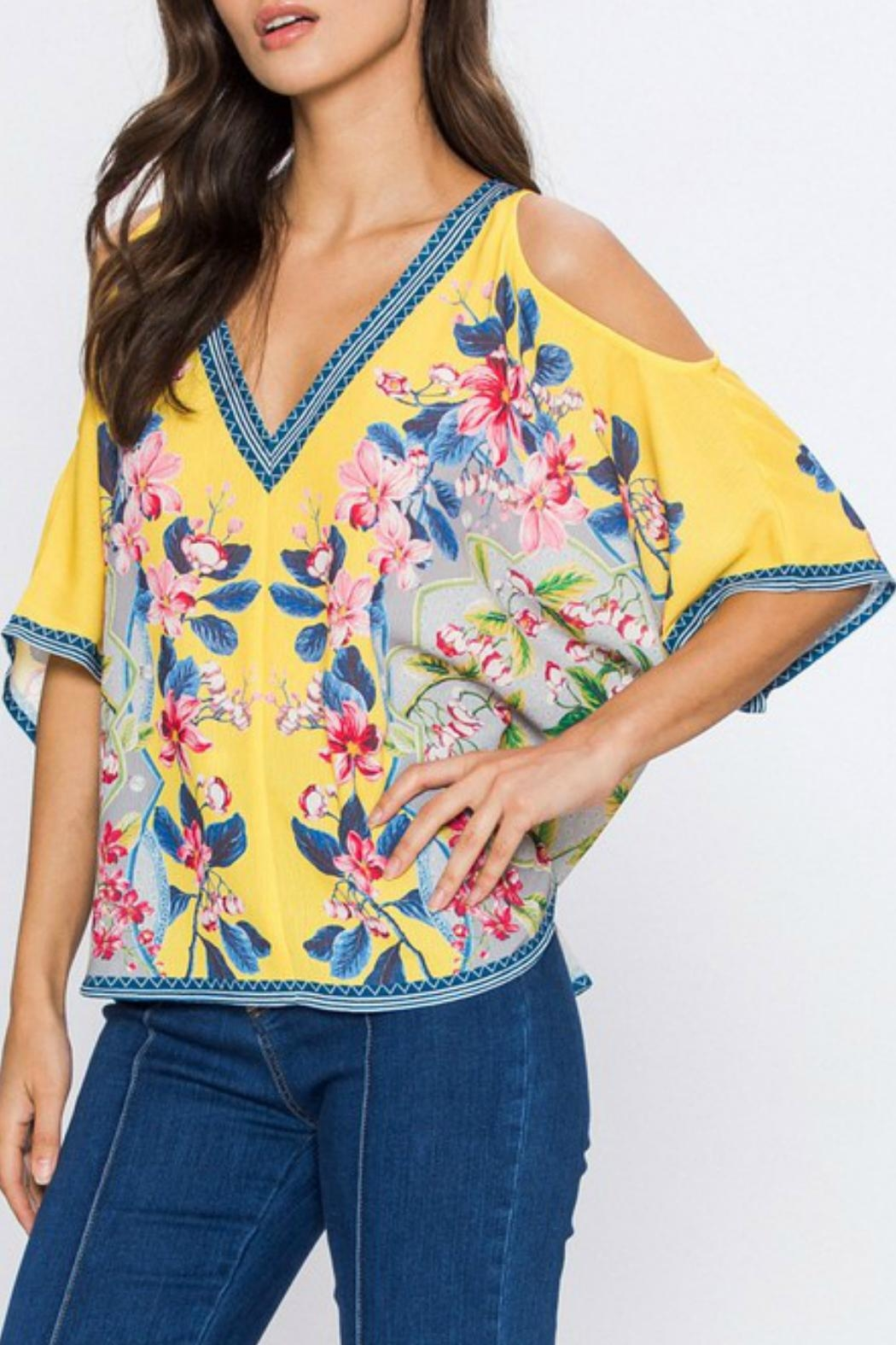 Imagine That Flirty Floral Top - Side Cropped Image