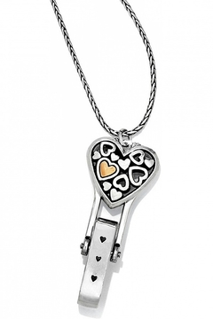 Brighton Floating Heart Badge Clip Necklace - Product List Image