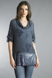 Tempo Paris Flock Print Tunic - Product Mini Image