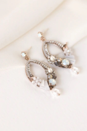 Lovers Tempo  Flora Deco Drop Earrings - Front cropped
