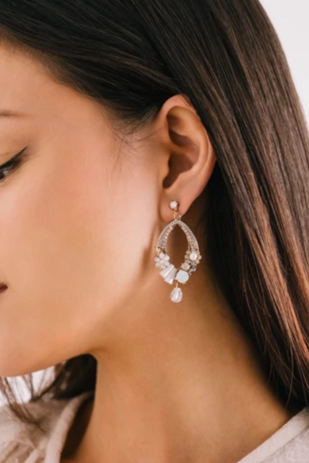 Lovers Tempo  Flora Deco Drop Earrings - Front Full Image