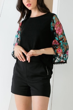 Shoptiques Product: Flora Embroidered Top