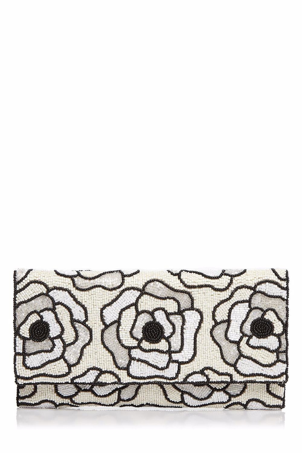 From St. Xavier  Flora Ii Beaded-Clutch - Front Cropped Image