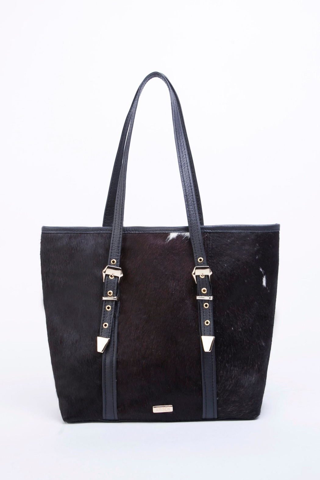 Arisch Flora Leather Tote - Front Cropped Image