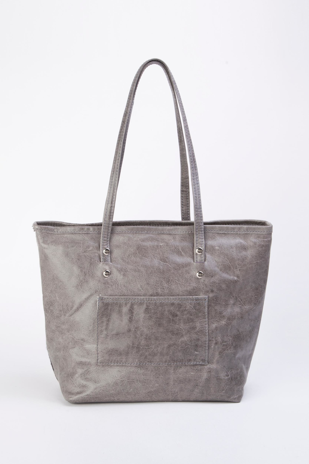 Arisch Flora Leather Tote - Side Cropped Image