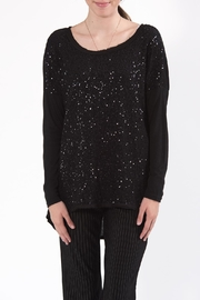 Flora Ashley Black Sequin Top - Front cropped
