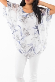 M made in Italy Floral 3/4-Sleeve Top - Product Mini Image