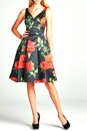 Goldspark Floral A-Line Dress - Product Mini Image