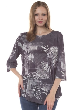 Katina Marie Floral Abstract Top - Alternate List Image