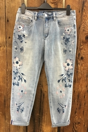 FDJ French Dressing Floral Accent Crop - Front cropped