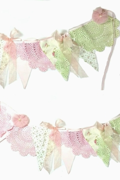 Miss Rose Sister Violet Floral-And-Lace Bunting - Product List Image