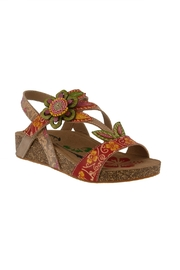 Spring Footwear Floral Applique Sandal - Product Mini Image