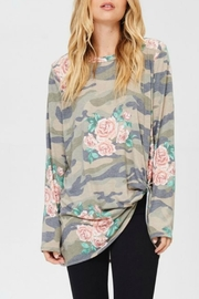 Jodifl Floral Army Top - Product Mini Image