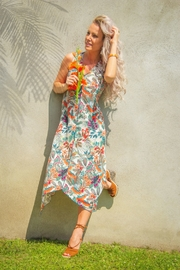 Pure Essence Floral Asymmetrical Dress - Front cropped