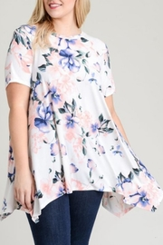 Jodifl Floral Asymmetrical Top - Product Mini Image