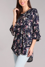 Chris & Carol Apparel Floral Baby Doll Top - Product Mini Image