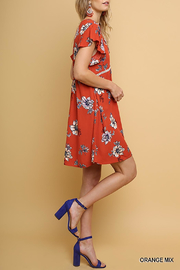Umgee USA Floral Babydoll Dress - Front cropped