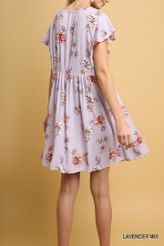 Umgee USA Floral Babydoll Dress - Front full body
