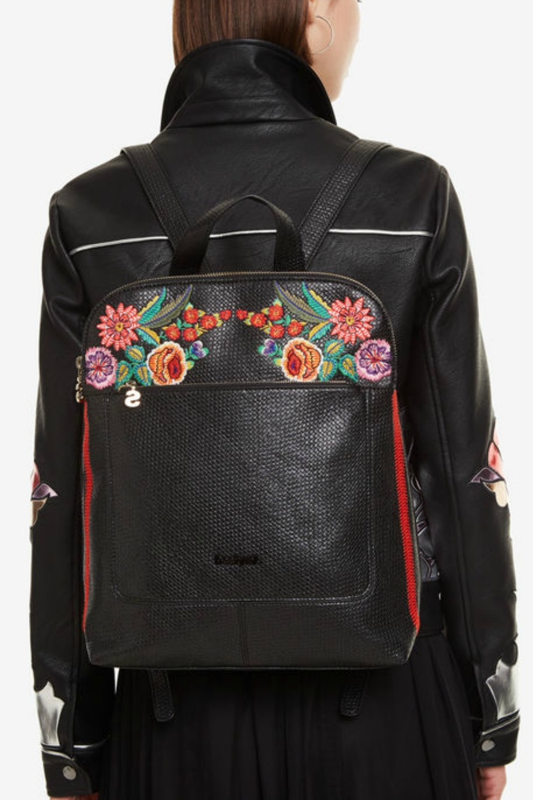 DESIGUAL Floral Backpack Mex Nanaimo - Side Cropped Image