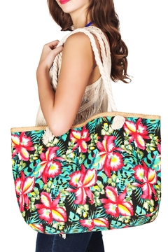 India Boutique Floral Beach Bag - Product List Image