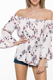 En Creme Floral Bell Sleeve - Product Mini Image