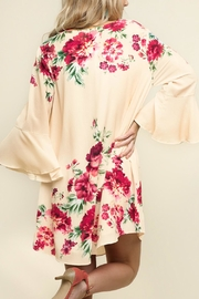 Umgee USA Floral Bell Sleeve - Side cropped