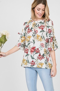 The Dressing Room Floral Bell Sleeve - Product List Image
