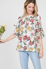 The Dressing Room Floral Bell Sleeve - Product Mini Image
