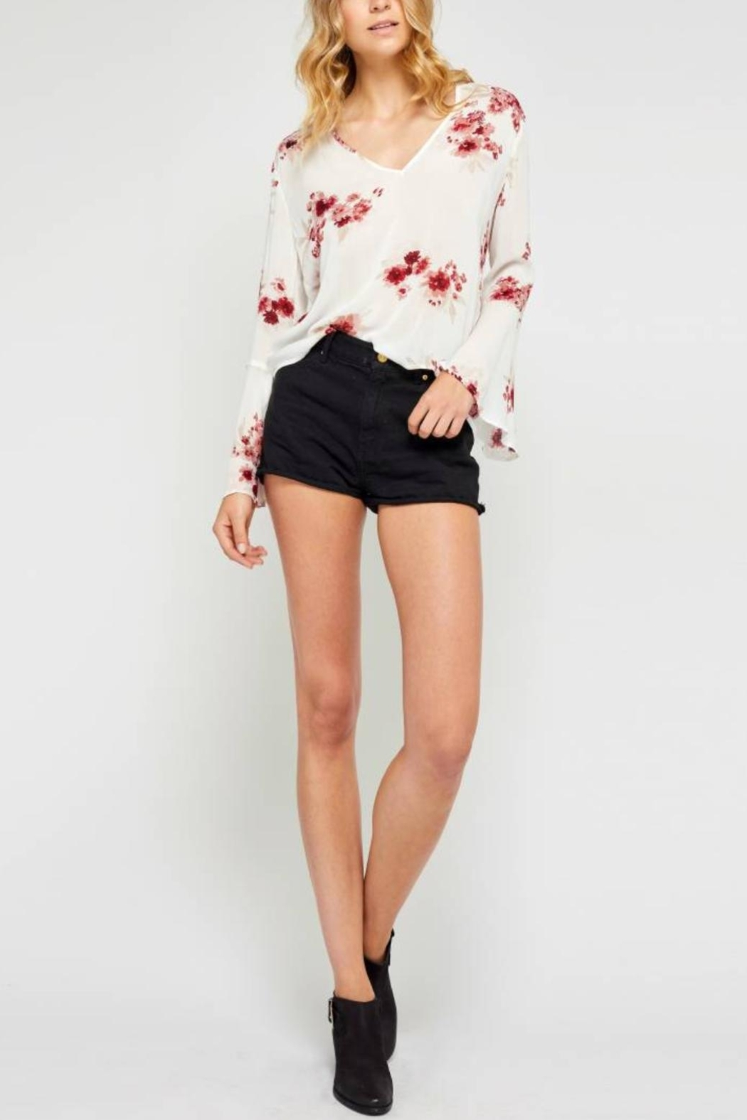 Gentle Fawn Floral Bell Sleeve - Main Image