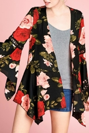 Oddi Floral Bell-Sleeve Cardigan - Product Mini Image