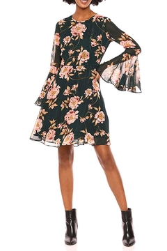 Donna Morgan Floral Bell-Sleeve Chiffon-Dress - Product List Image