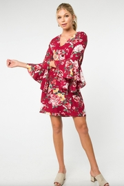 Everly Floral Bell-Sleeve Dress - Product Mini Image