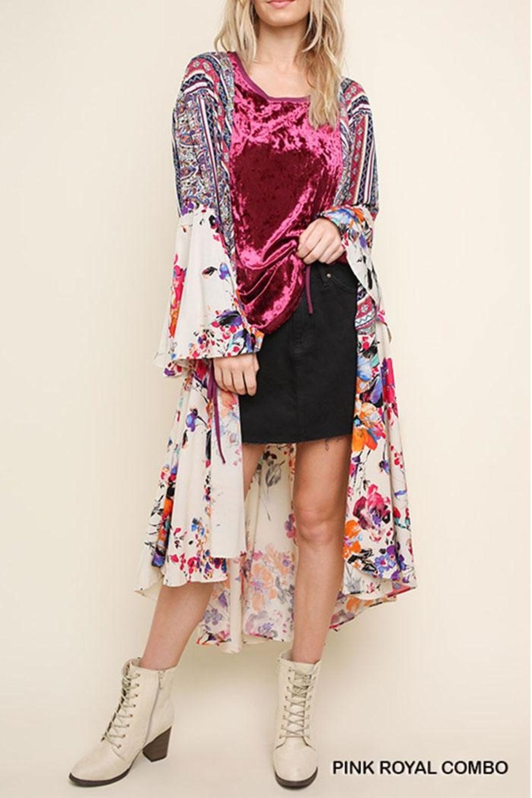 3af15f41760 Umgee USA Floral Bell-Sleeve Kimono from California by Nadya s ...