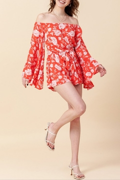 HYFVE Floral Bell Sleeve Romper - Alternate List Image