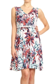 Purple Rain Floral Belted Dress - Front cropped
