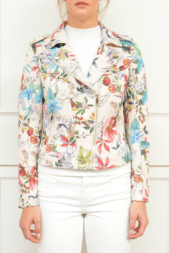 Rino Pelle Floral Biker Jacket - Alternate List Image