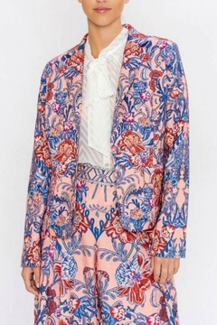 Champagne & Strawberry Floral Blazer - Product List Image