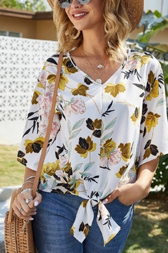Lyn -Maree's Floral Blouse - Product List Image