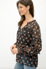 Mystree Floral Blouse - Front full body