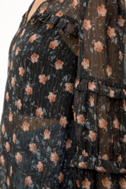 Mystree Floral Blouse - Back cropped