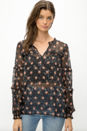 Mystree Floral Blouse - Front cropped